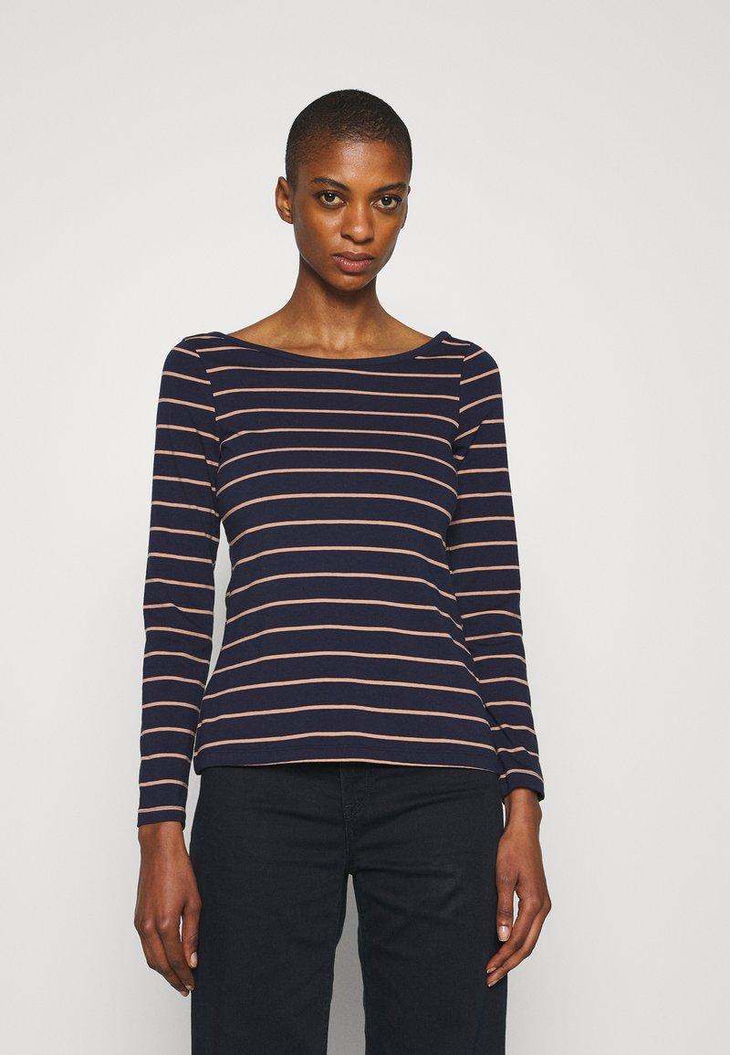 Anna Field - Long sleeved top - dark blue/camel
