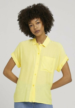 EASY FIT - Button-down blouse - mellow yellow