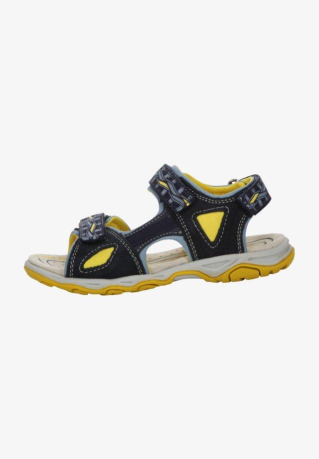 Walking sandals - navy/yellow