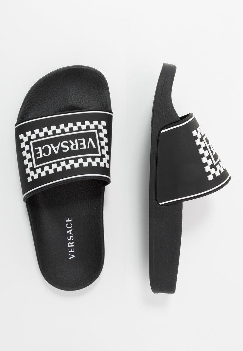 Versace - CIABATTA DAMIE - Rantasandaalit - nero/bianco