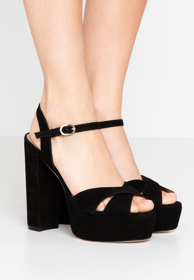SOLIESSE - Sandales à talons hauts - black