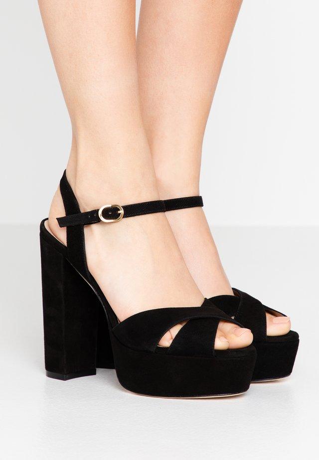 SOLIESSE - High heeled sandals - black