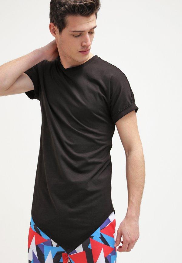 Urban Classics T-shirt z nadrukiem - black/czarny Odzież Męska ABJY