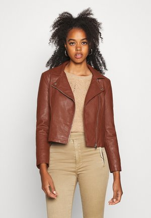 JDYSIMBA  - Faux leather jacket - cherry mahogany