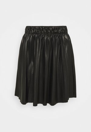 ONLANINA COATED SKIRT - A-line skirt - black
