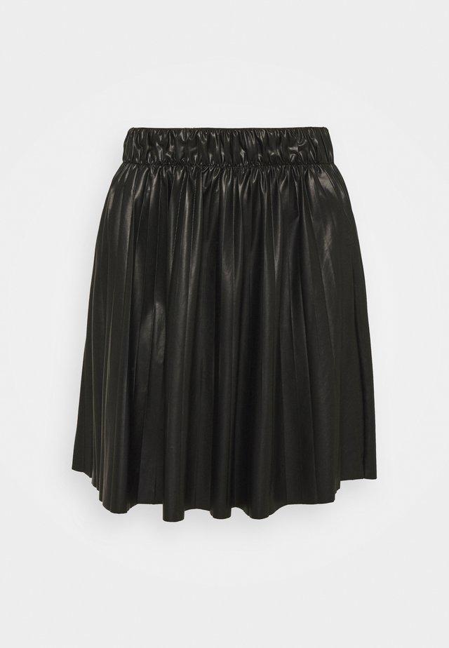 ONLANINA COATED SKIRT - A-lijn rok - black