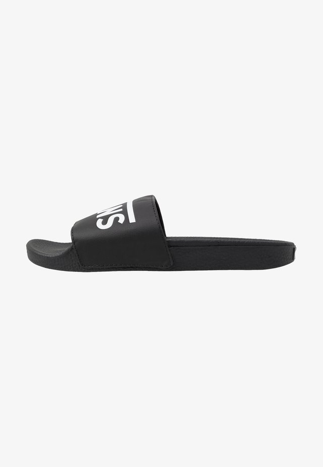 SLIDE-ON UNISEX - Pantofle - black