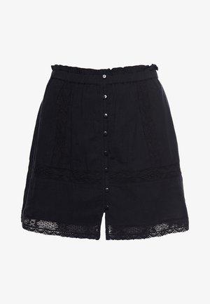 ELLISON TEXTURED - Spódnica mini - black