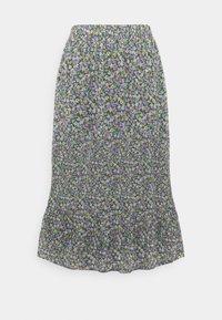 Pieces Curve - PCMOLA MIDI SKIRT - A-line skirt - sea turtle/purple flowers - 0