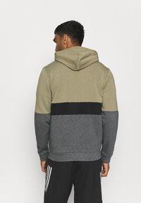 adidas Performance - COLORBLOCK FULL ZIP ESSENTIALS - Zip-up sweatshirt - orbit green/black - 2
