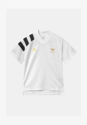 UNISEX - Print T-shirt - white/black/gold