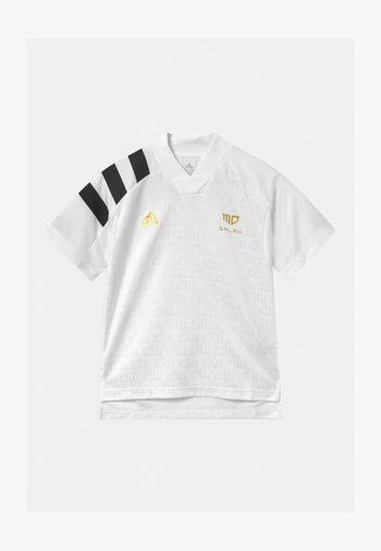 UNISEX - T-shirt print - white/black/gold