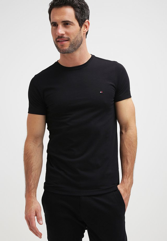 NEW STRETCH TEE C-NECK - T-shirt basique - flag black