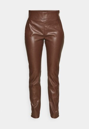 NOVA PANTS - Trousers - dark brown