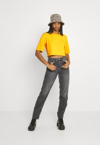 Monki - Print T-shirt - yellow medium - 1