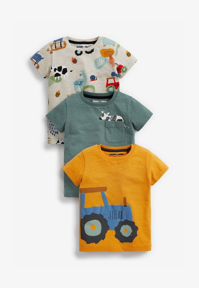 Next - 3 PACK  - Print T-shirt - yellow