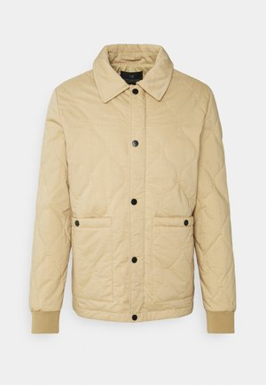 CLASSIC QUILTED JACKET - Light jacket - sand