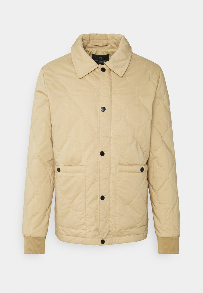 Scotch & Soda - CLASSIC QUILTED JACKET - Light jacket - sand