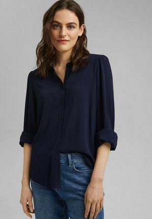 Button-down blouse - navy