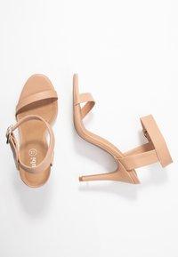 Rubi Shoes by Cotton On - SKYLAR STILLETTO - Sandaler med høye hæler - light taupe smooth - 3