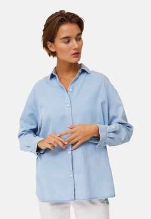 Button-down blouse - lt blue denim