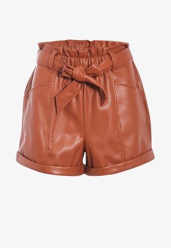 CACHE  BINDEN - Shorts - marron cognac