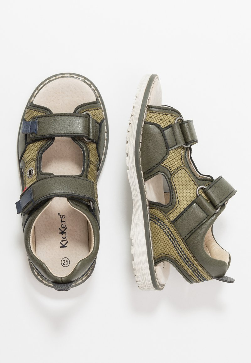 Kickers - PEPPER - Walking sandals - kaki/marine