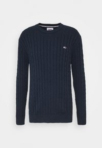 Tommy Jeans - ESSENTIAL CABLE SWEATER - Jumper - twilight navy - 5