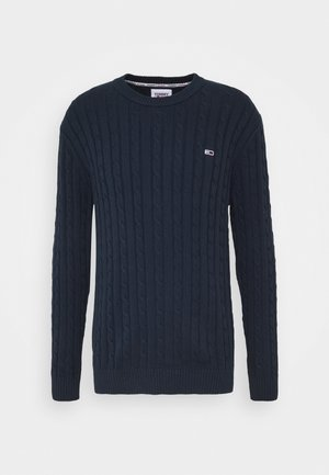 ESSENTIAL CABLE SWEATER - Stickad tröja - twilight navy