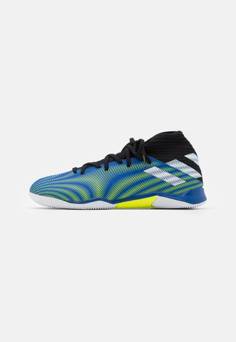adidas Performance - NEMEZIZ .3 IN - Indoor football boots - royal blue/footwear white/solar yellow