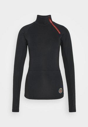 NOVELTY  - Long sleeved top - black