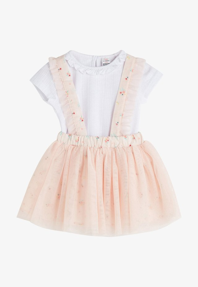Korte jurk - white, pink