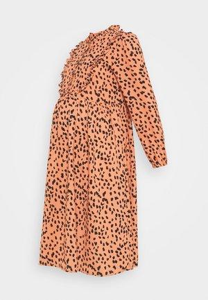 MLCHARLOT  LIA DRESS - Denní šaty - auburn/iris black