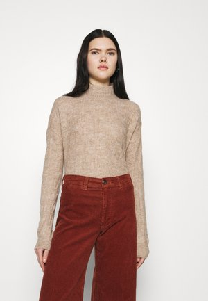 PCBECKY TURTLE NECK - Pullover - natural