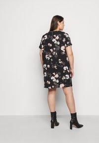 ONLY Carmakoma - CARLUXMAJA DRESS  - Day dress - black - 2