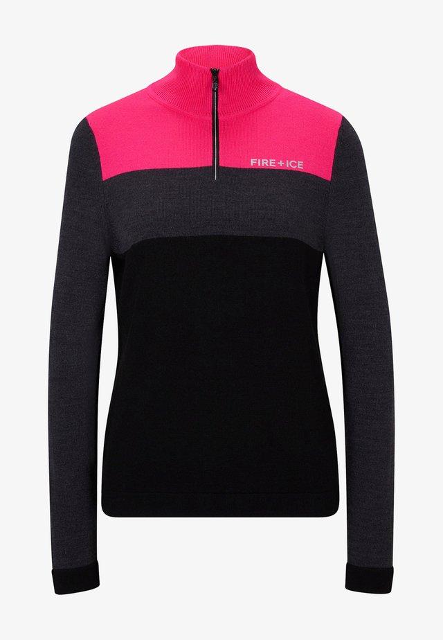 ABBY - Pullover - anthrazit/pink/schwarz