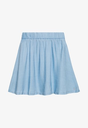 FLARED SKIRT - Denim skirt - light stone bright blue denim