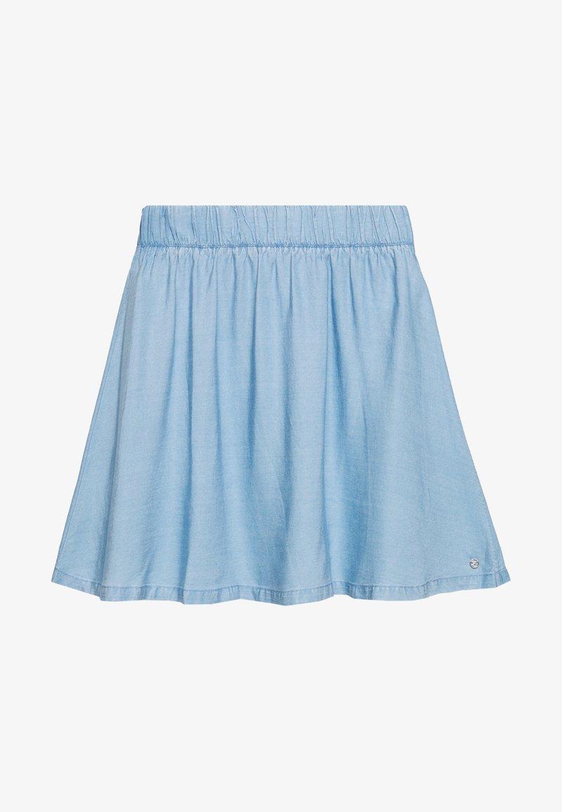 TOM TAILOR DENIM - FLARED SKIRT - Denim skirt - light stone bright blue denim