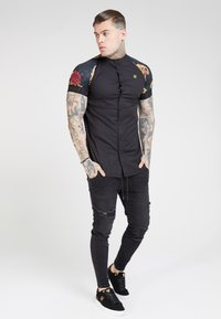 SIKSILK - Overhemd - jet blackfloral animal - 1