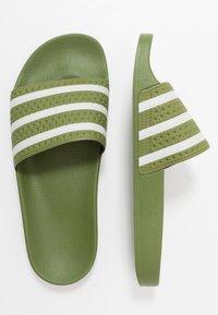 adidas Originals - ADILETTE - Pantofle - forest green/super color - 1