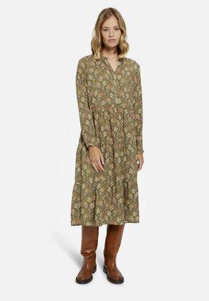 Shirt dress - military green print