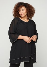 Zizzi - WITH 3/4-LENGTH SLEEVES - Tunic - black - 0