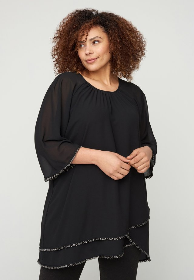 WITH 3/4-LENGTH SLEEVES - Tunique - black