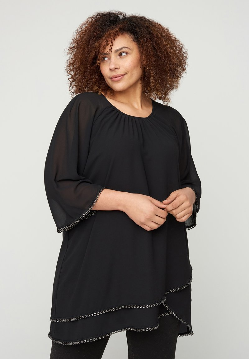 Zizzi - WITH 3/4-LENGTH SLEEVES - Tunic - black