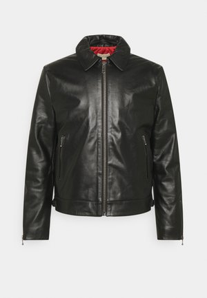EDDY - Leather jacket - black