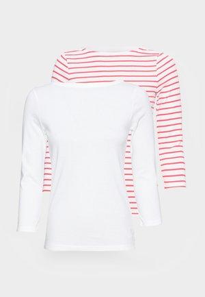 BALLET 2 PACK - Top sdlouhým rukávem - red white