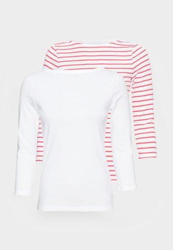 BALLET 2 PACK - Topper langermet - red white