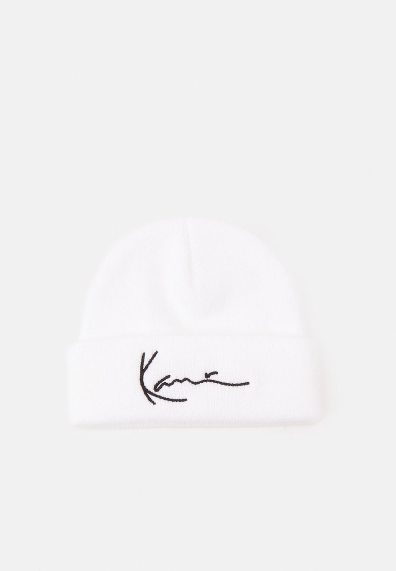 Karl Kani - SIGNATURE FISHERMAN BEANIE UNISEX - Beanie - white