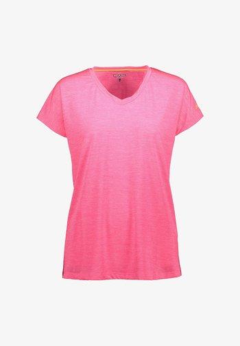 Print T-shirt - gloss pink