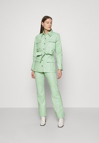HOSBJERG - VALORA PANTS - Leather trousers - mint - 1